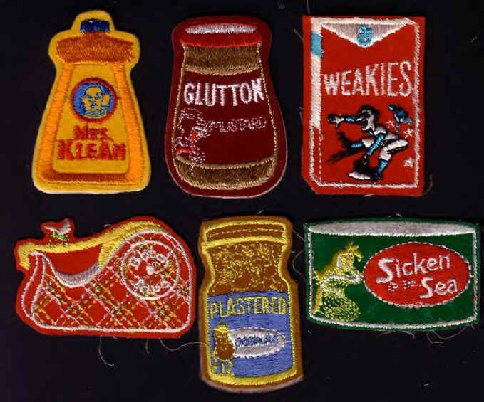 TEST PATCHES wacky packages