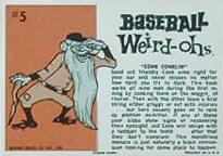 Baseball Weird-Ohs card back.