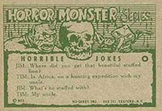 Monster cards. Horror Monsters card back.