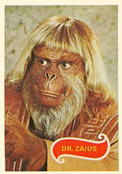 Non-sports cards. Planet of the Apes trading cards.