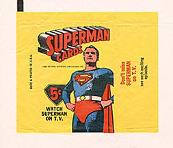 Superman cards wrapper.