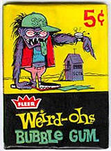 Weird-Oh's trading cards wax pack.